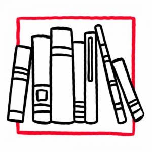 Illustration von Büchern als Symbol für den Leseraum